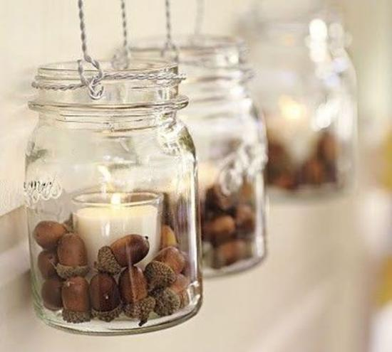 Fall Decorating With Acorns Fall Craft Ideas For Table Decoration
