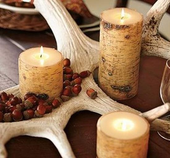 25 acorn table centerpieces bring natural feeling in for Acorn decoration