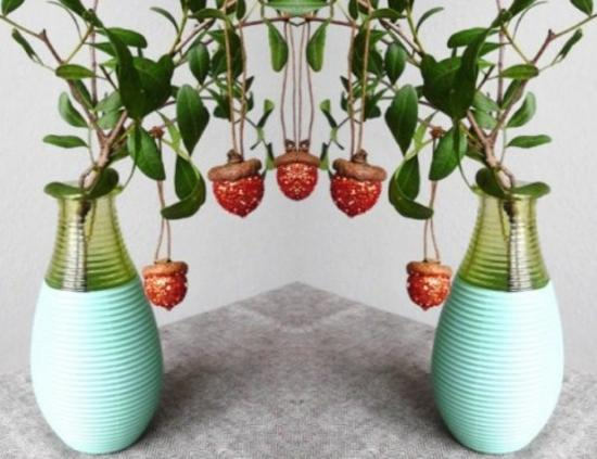 25 Acorn Table Centerpieces Bringing Natural Feel Into
