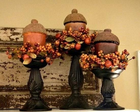 Acorns Inspired Table Decorations