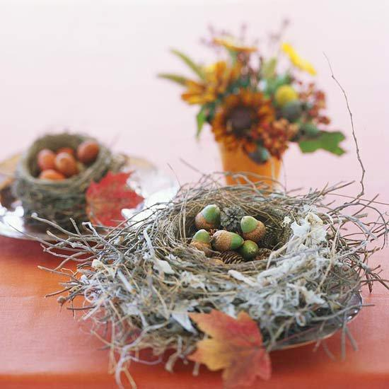 25 acorn table centerpieces bringing natural feel into for Acorn decoration