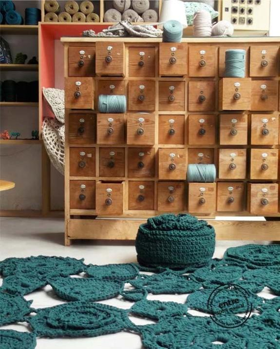 handmade home accessories, chrocheted floor rugs