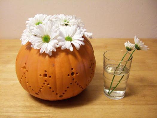 Как сделать из тыквы вазу
