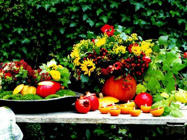 15 Fall Flower Arrangements in Handmade Pumpkin Pots
