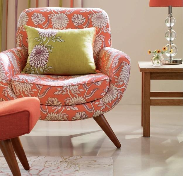 modern interior decorating with home fabrics in light pastel colors