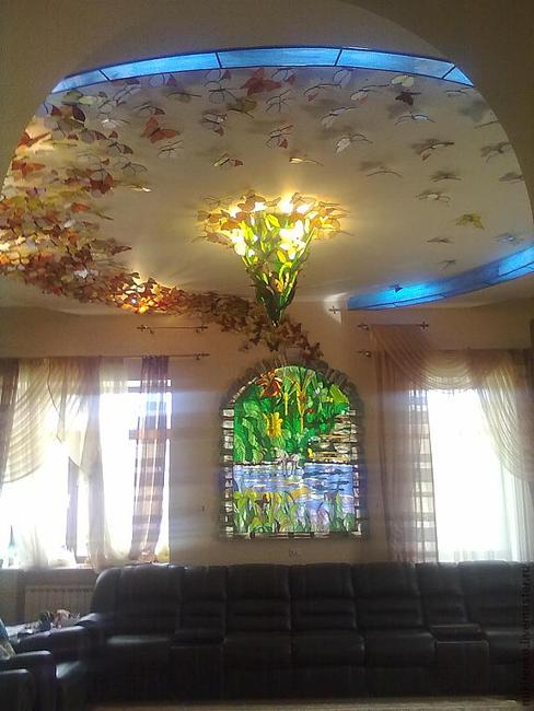 Handmade butterflies decorations on walls paper craft ideas for Cheap craft ideas for adults