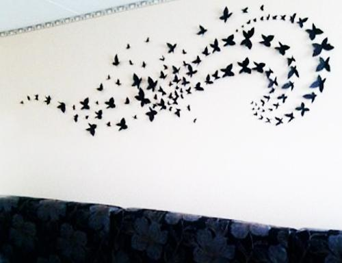 Craft Ideas For Wall Decoration With Butterflies