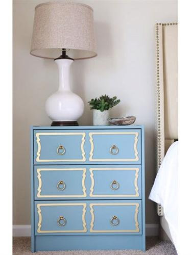 Beautiful bedroom decorating ideas with hand painted - Hand painted furniture ideas ...