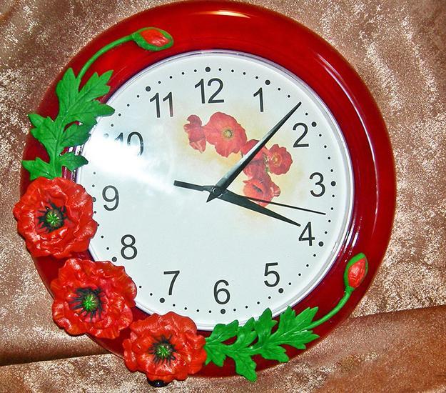 Как своими руками декорировать настенные часы