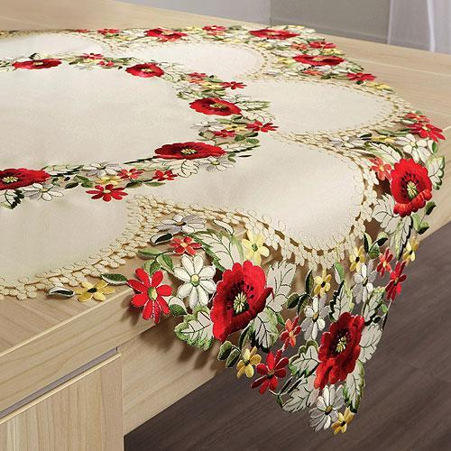 Red Flower Designs Table Decorations Floral Centerpieces Tablecloth