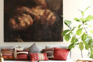 modern living room design with bohemian chic