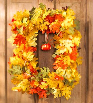 31 Creative Fall Wreaths And Craft Ideas For Door