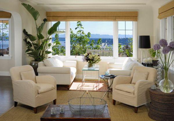 Yellow Wallpaper Living Room
