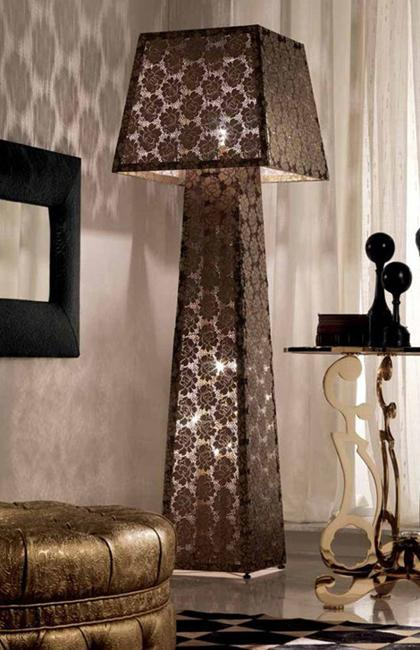 25 modern ideas adding black lamp shades to room decor for Ideas for decorating lamp shades