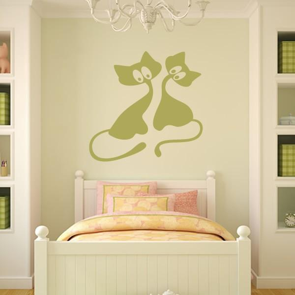 21 Charming Interior Decorating Ideas with Cat Stickers and Painted ...