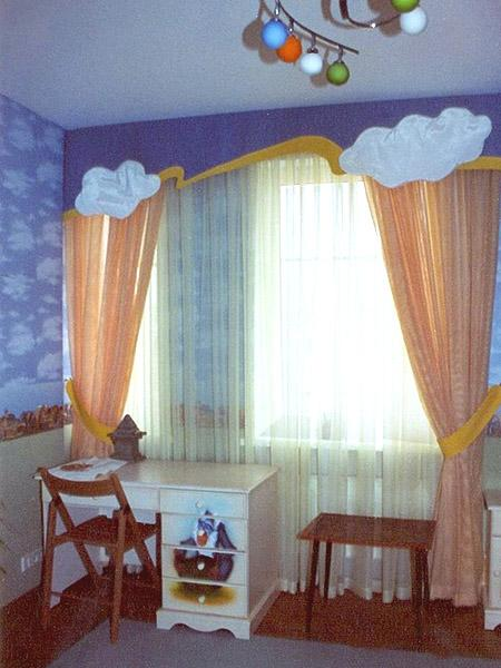 Curtain Decor Ideas For Living Room: 33 Creative Window Treatments For Kids Room Decorating
