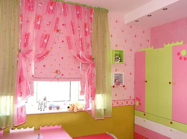 Bright Curtain Fabrics In Various Solid Colors, Creative Kids Room  Decorating Ideas