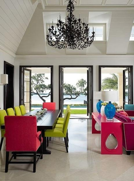 25 ideas for modern interior decorating with bright neon colors
