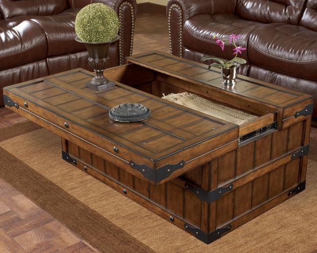 modern interior decorating with chests and trunks