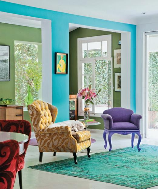 Home Design Color Ideas: Bright Room Colors And Home Decorating Ideas From Designer