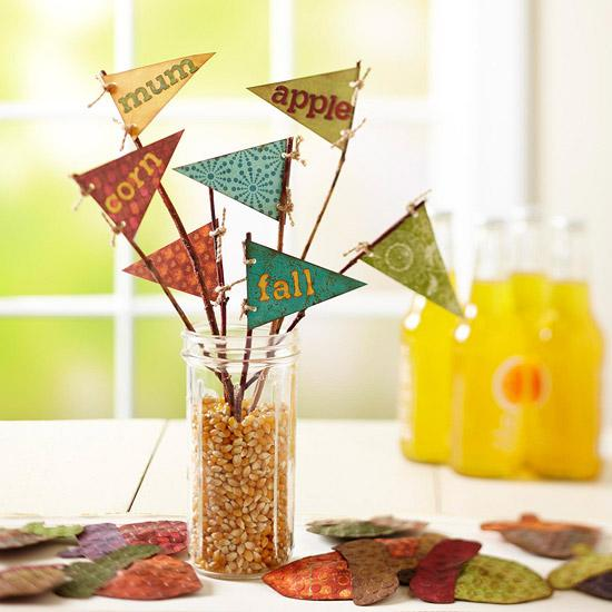 Easy Fall Centerpiece Crafts : Simple fall decorating ideas and fun crafts for