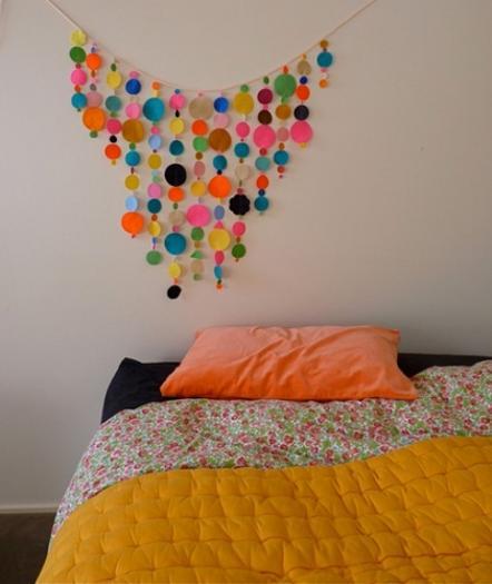 45 craft concepts for handmade garland recycling felt pieces for Handmade decoration pieces
