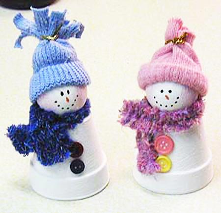 35 christmas crafts handmade snowman decorations and for Arts and crafts christmas decoration ideas