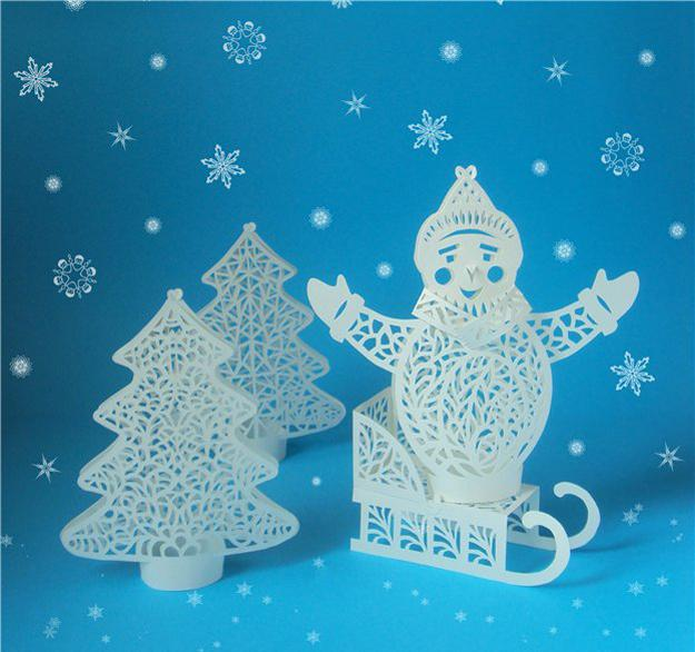 christmas crafts, handmade home decorations, snowman christmas tree ornaments