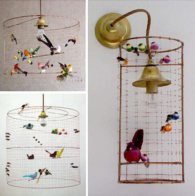 Modern home lighting with birds decoration design and for Bird decorations for home