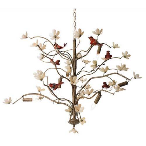 Modern Home Lighting Fixtures With Birds Decorations