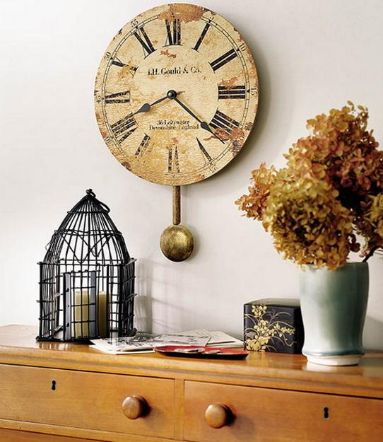 Asian clock decor wall fill