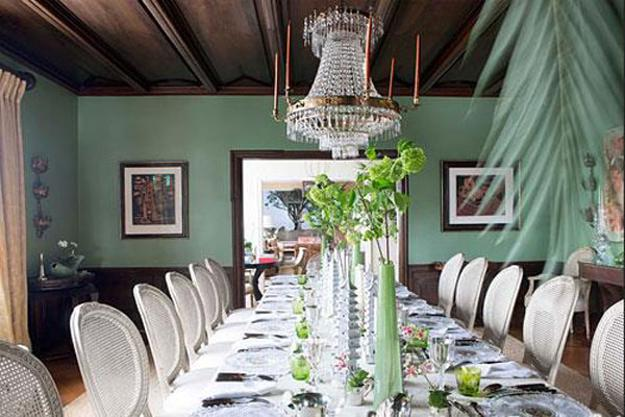 Dining Room Decorating Tips Huge Crystal Chandelier Wooden