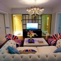 modern interior decorating ideas with british flag accents
