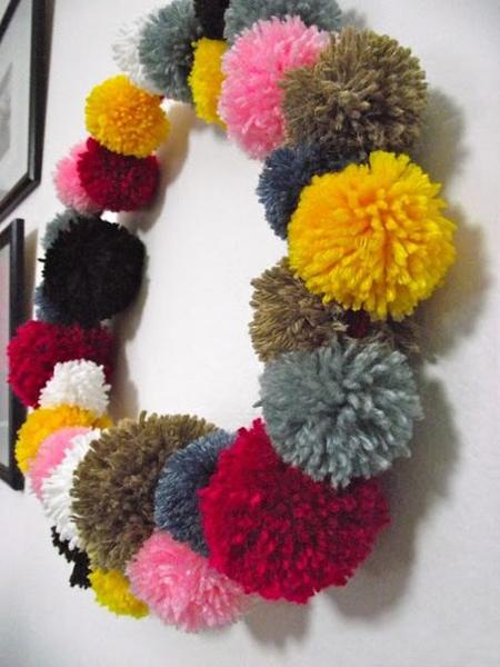 Purple Paint Colors >> 30 Christmas Decorating Ideas with Pompoms, Simple and ...