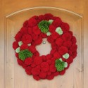 handmade christmas tree decorations and holiday ornaments created with pompoms