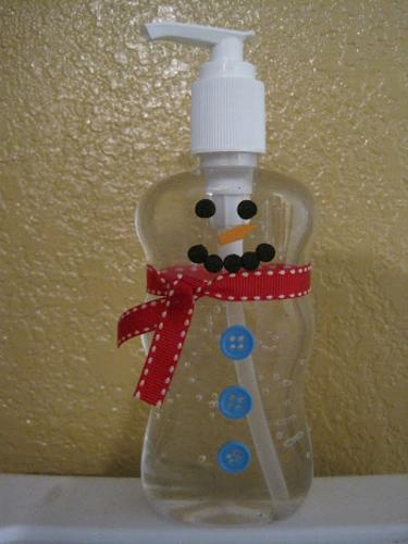 recycling plastic for winter home decorations snowman soap bottle christmas