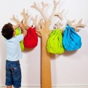tree coat racks in various shaped and colors, kids designs for modern interior decorating