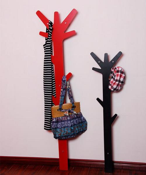 Black Modern Coat Rack