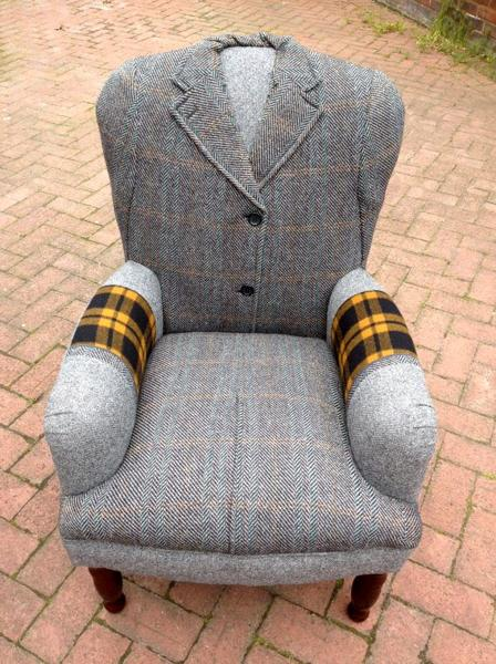 handmade chairs recycling wool coats