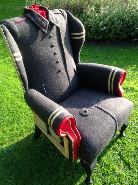Recycling Wool Coats For Unique Furniture In Vintage Style