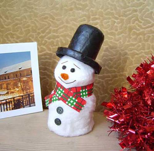 35 Christmas Crafts Handmade Snowman Decorations And