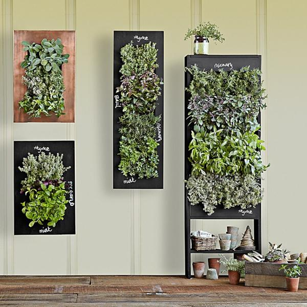 Chalkboard Wall Planters for Vertical Garden Designs on Outdoor Garden Wall Art Ideas id=58367
