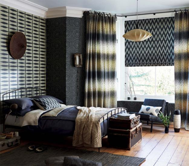 Beautiful wallpapers and home fabrics adding colorful for Beautiful wallpaper home decor