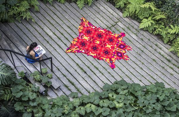 recycling felt craft ideas, handmade floor rugs