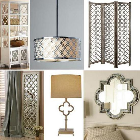 home decorating with quatrefoil designs