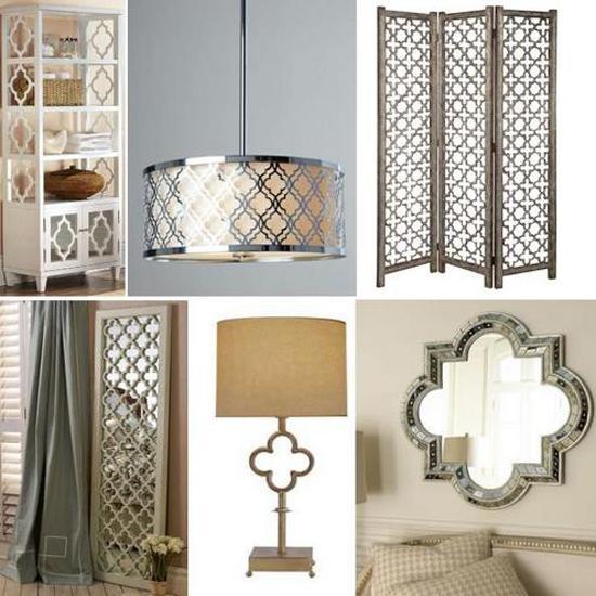home decorating with quatrefoil designs