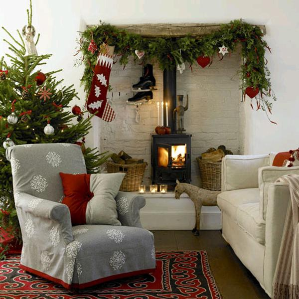 33 ways to use snowflakes for winter home decorating for Winter living room decorating ideas