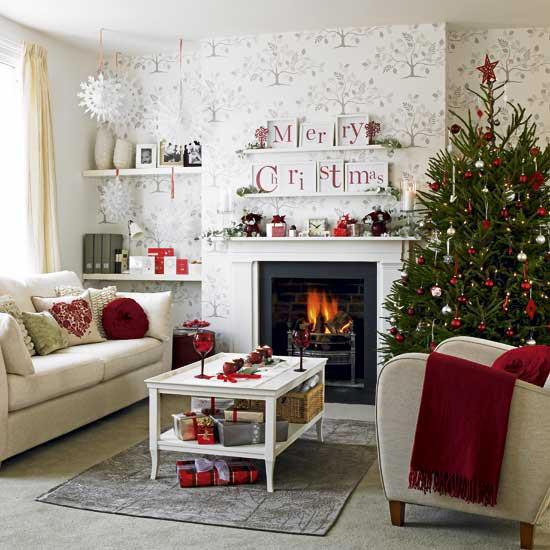 White Living Room Furniture With Red Accents Fireplace Decorating