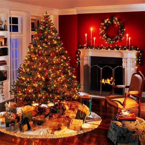 Red And White Christmas Tree Decorating Ideas Merry Christmas Decora...