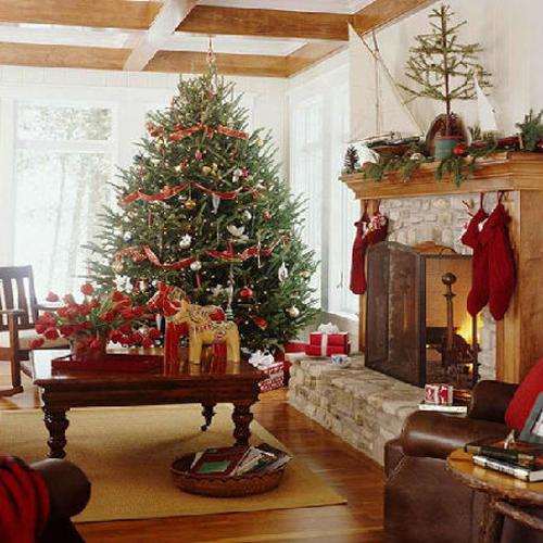 Woonkamer: Merry Christmas Decorating Ideas For Living Rooms And